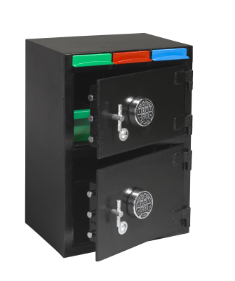 Drop Slot Depository Safe with Three Drop Drawers